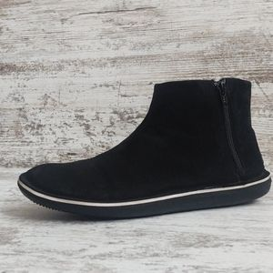 Camper Black Suede Leather Ankle Boots